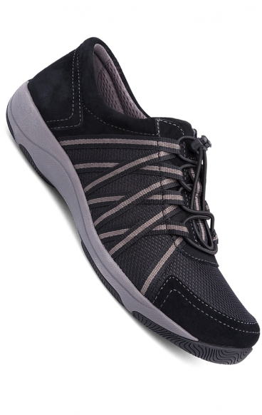 *FINAL SALE Honor Wide Black/Black Suede Sneakers by Dansko