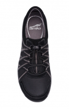 Honor Wide Black/Black Suede Sneakers by Dansko