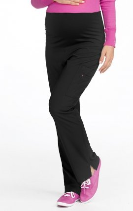 8727 Med Couture Plus One Pantalon de toilette de maternité - Black
