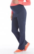 8727 Med Couture Plus One Maternity Cargo Scrub Pants - Navy