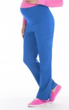 8727 Med Couture Plus One Maternity Cargo Scrub Pants - Royal
