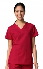 1716 RED PANDA - V-Neck Two Pocket Top