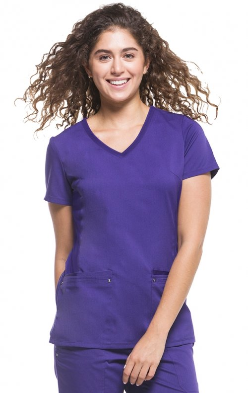 Purple Label Yoga Scrub Top By Healing hands Size Medium