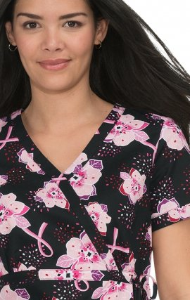 115PRM koi Kathryn Top 100% Cotton Print: Pink Burst