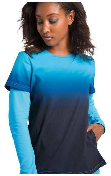370PR koi Lite Reform Top - Electric Blue/Navy Ombre