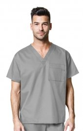 100 WonderWORK Unisex V-Neck Scrub Top (Men's View)