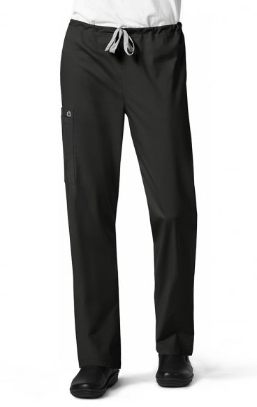 500S WonderWORK Unisex Drawstring Cargo Scrub Pant (Men's View) - Inseam: Short 28 1/2""