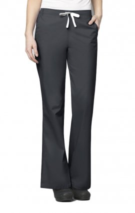502 WonderWORK Women's Flare Leg Drawstring Scrub Pant - Inseam: Regular 31""