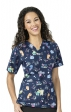 6017 WonderWink Origins V-neck Print Scrub Tops - Hug a Nurse!