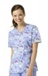 6017 WonderWink Origins V-neck Print Scrub Tops - Shine Bright