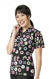 6017 WonderWink Origins V-neck Print Scrub Tops - XOXO