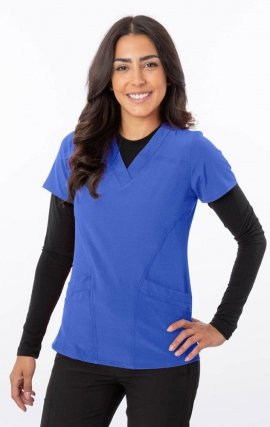18-1060 Greentown Zinnia Stretch Double Pocket Scrub Top