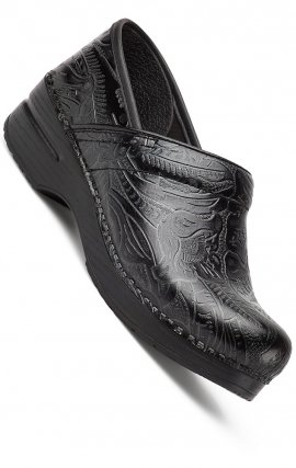 Le Professional par Dansko (aux femmes) - Black Tooled Leather