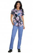 *FINAL SALE 324PR koi Stretch Tanya Top - Romantic Floral