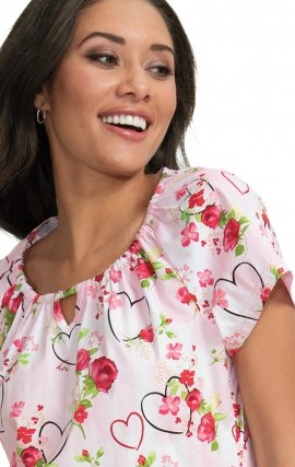 *FINAL SALE 391PR koi Kelby Top - Hearts & Roses