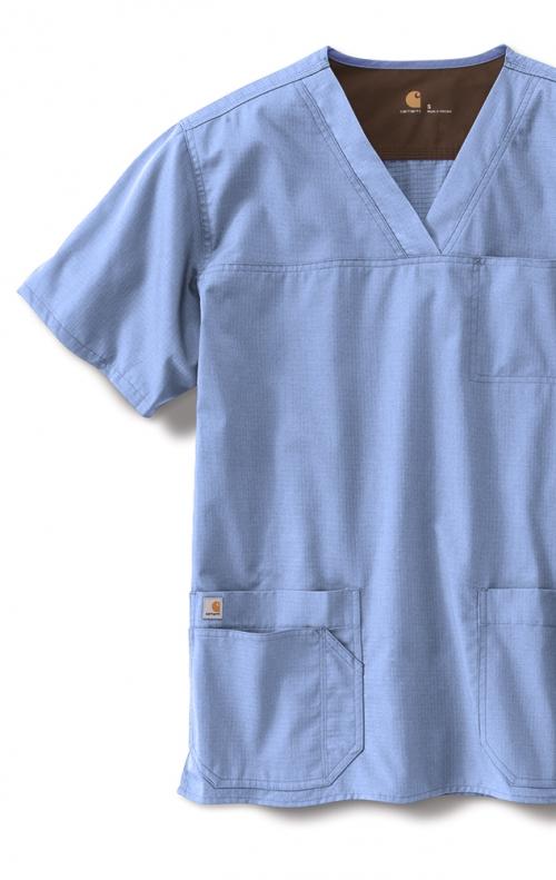 845657b6f0a C15208 Carhartt Men's Ripstop Multi-Pocket Scrub Top - Scrubscanada.ca