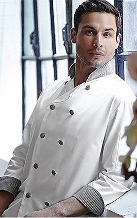 CC250 WHITE-HOUNDSTOOTH  Classic Chef Coat - Men's View