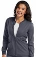 7663 Med Couture Performance Touch ZIP FRONT WARM UP