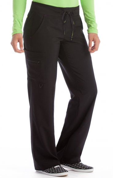 "8747 Med Couture Activate 4-way Energy Stretch YOGA One CARGO POCKET PANT - Regular: (31"")"