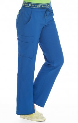 "8758 Med Couture Activate 4-way Energy Stretch YOGA 2 CARGO POCKET PANT - Regular: (31"")"