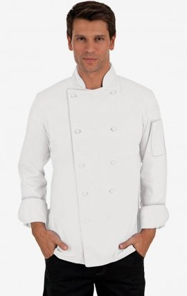 CC250 Classic Chef Coat - Men's View - White
