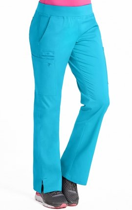 "8714 Med Couture Signature YOGA 2 CARGO POCKET PANT - Regular: (31"")"