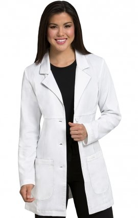 5601 Med Couture Professional Lab Coats EMPIRE MID LENGTH LAB COAT