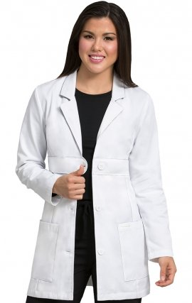 "8617 Med Couture Belted Lab Coat 33"" Length"