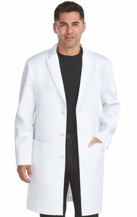 "9680 Med Couture Professional MEN'S TAILORED LONG LENGTH LAB COAT (38"")"