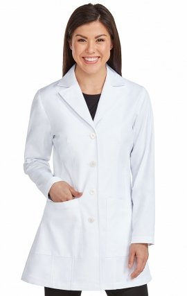 "9644 Med Couture Professional TAILORED MID LENGTH LAB COAT (33"")"