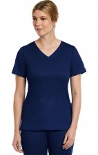 3701 Matrix Curved Mock Wrap Top - Maevn