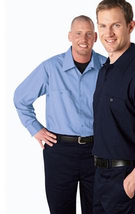 *FINAL SALE MOBB S300 Long Sleeve Button Front Work Shirt