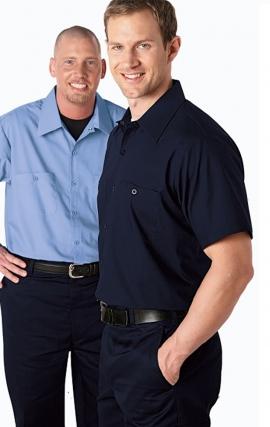*FINAL SALE MOBB S301 Short Sleeve Button Front Work Shirt