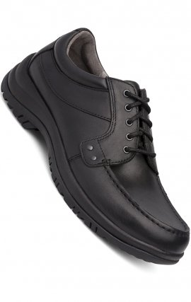 Men's Wyatt Lace-Up in Black Full Grain Leather