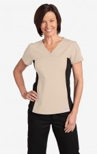 Flexi V-Neck Scrub Top by MOBB - Khaki (KH)