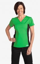 Flexi V-Neck Scrub Top by MOBB - Lime Green (LM)
