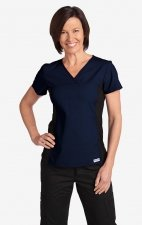 Flexi V-Neck Scrub Top by MOBB - Navy (NN)