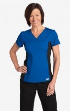 Flexi V-Neck Scrub Top by MOBB - Royal Blue (RO)