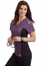 324T Flexi V-Neck Scrub Top by MOBB
