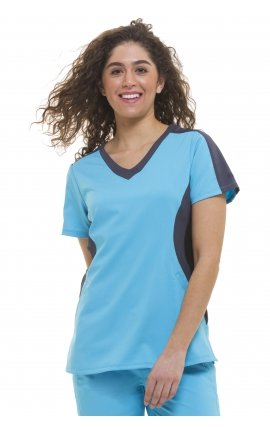 *FINAL SALE Red/pewter/black 2298 Healing Hands Purple Label Jewel V-neck Scrub Tops