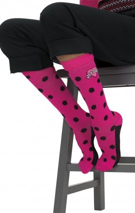 QB155 koi Betsey Compression Socks (1Pk) - Betseys Ikat Dot