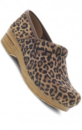 Leopard Suede Clog by Dansko Professional