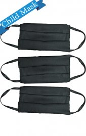 3 Pack Enfant AV-FMCHILD masque réutilisable en tissu noir - * VENTE FINALE - Filtre remplaçable PM2.5