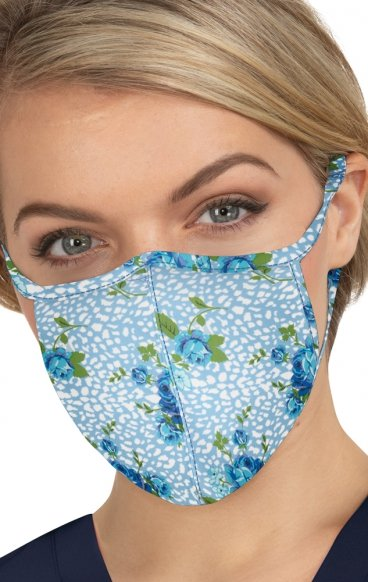BA157 koi Cloth Scrub Face Mask - Floral Leopard - Filtre remplaçable PM2.5