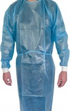 AAMI-PB70 Level 2 Disposable Isolation Gown With Knitted Cuff - (Ten Pack)