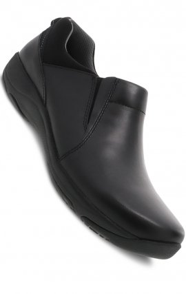 Neci Black Leather by Dansko - Slip-resistant Rubber Outsole