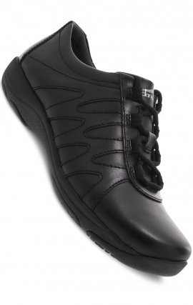 Neena Black Leather by Dansko - Slip-resistant Rubber Outsole