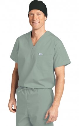 *FINAL SALE 306T LAGOON MOBB Unisex V-Neck Scrub Top