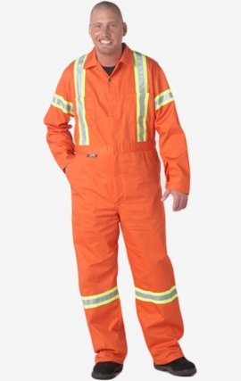 MOBB Reflective Banded Coverall - Workmen Orange