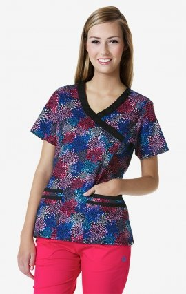 1107 City Lights Print -  Mockwrap 2-Pocket Print Top